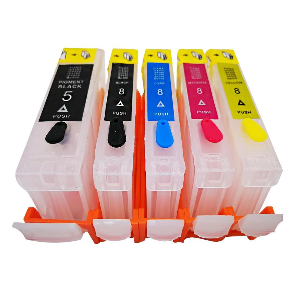 PGI-5 CLI-8 перезаправляемый картридж для canon ip3300 iX4000 ix5000 MX700 MX850 MP500 MP510 MP520 MP530 MP600 MP830 принтер