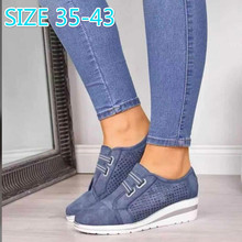 NEW Slip on Rubber Ladies Loafers Shoes Round Toe PU Flat Platform Shoe