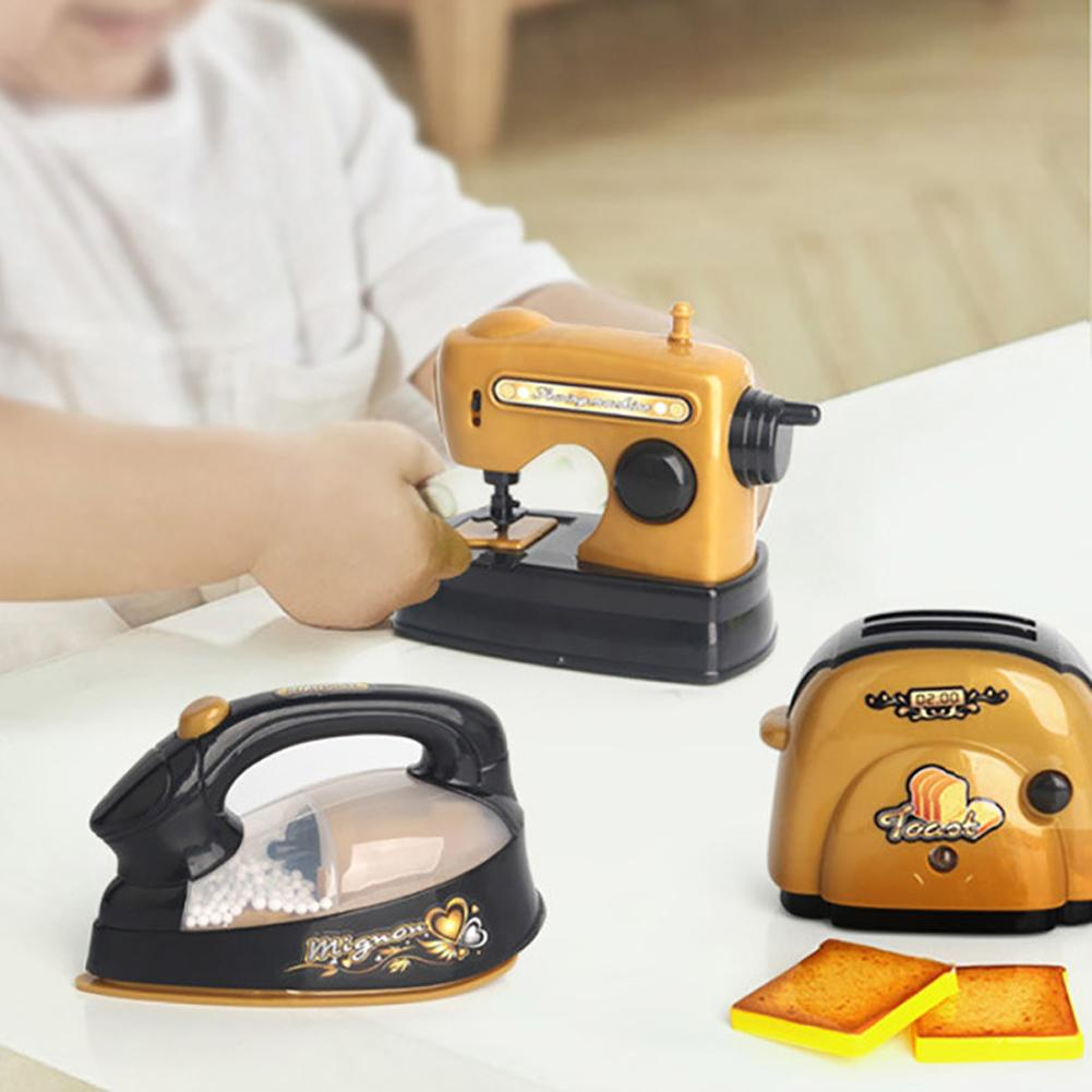 Rice Cooker Electric Iron Simulation Home Appliance Cute Model Kids Pretend Play Interactive Game Toy