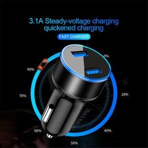 Image 4 - 3.1A podwójna ładowarka samochodowa USB uniwersalna ładowarka samochodowa do telefonu Huawei Mate 30 Samsung S9 iPhone 11 XR Tablet bez wyświetlacza LED