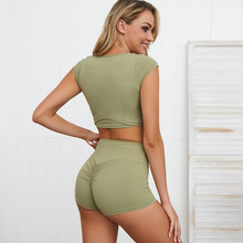 two piece gym set women sport outfit bomb squad booty shorts activewear outfits yoga sets clothes for running