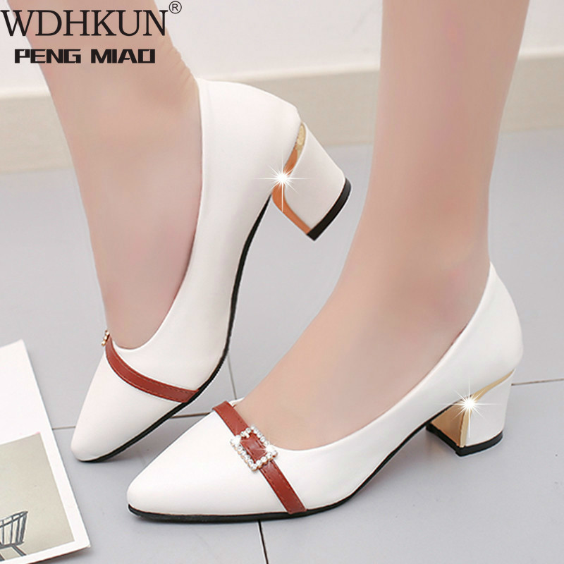 WDHKUN 2020 Summer Office Shoes Women Pumps High Heels Party Simple Pointed Shallow High Heels Woman Office Shoes Women 236