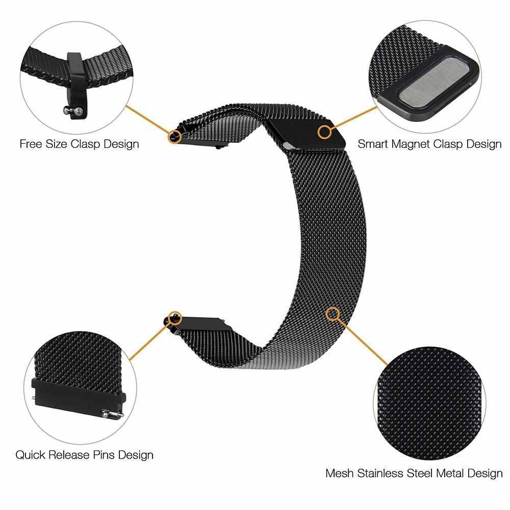 Uebn 20 Mm 22 Mm Milanese Loop Tali Penggantian Band untuk Xiaomi Huami Tali Amazfit GTS/GTR 42 Mm 47 Mm/Bip Watchbands