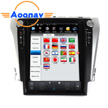 AOONAV Car HD touch screen radio multimedia player For-TOYOTA Camry 2012 2013 2014 2015 2016 car autoradio stereo GPS navigation image