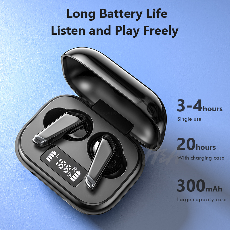 Mini Bluetooth Earphone with LED Power Display 24h Play Time Wireless Headphones Bluetooth Earbud Touch Control Sport Waterproof 3