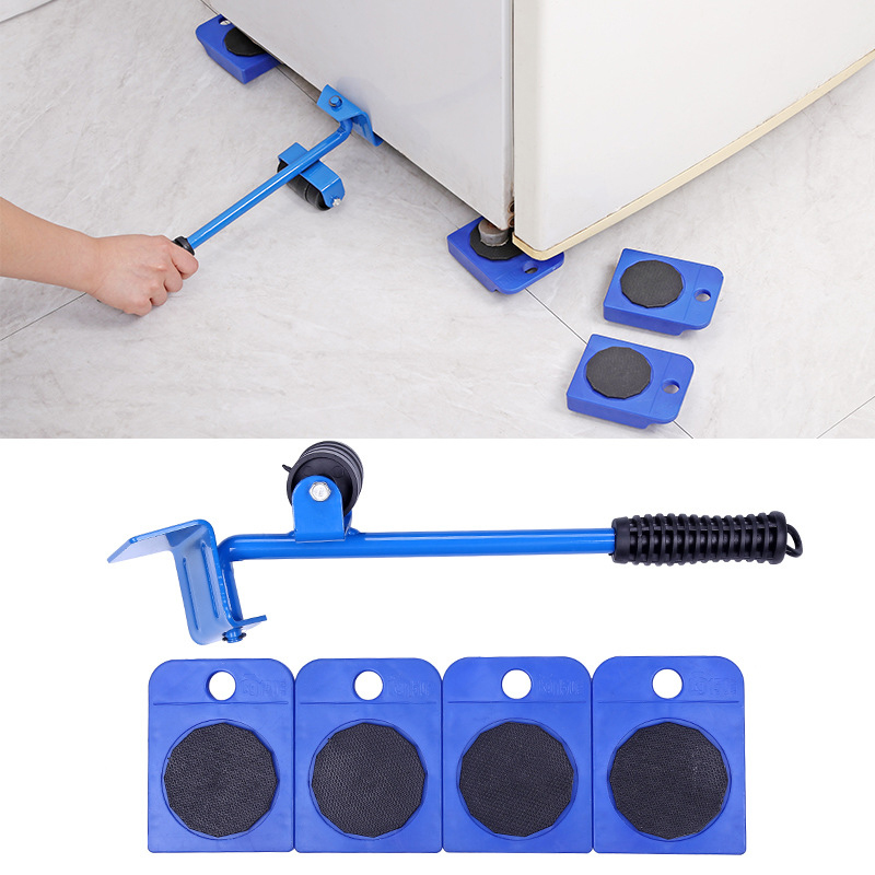 New Furniture Mover Set Furniture Transport Tools Heavy Lifter Moving Animals Tool Wheel 4 Wheel Roller Mover and 1 Pry Bar