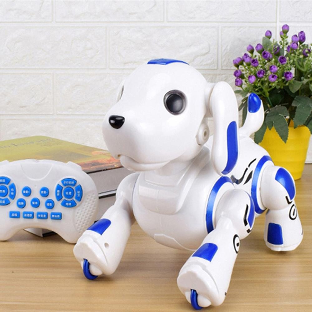 comandos de voz controle app robo brinquedo do cao animal estimacao eletronico engracado interativa controle remoto
