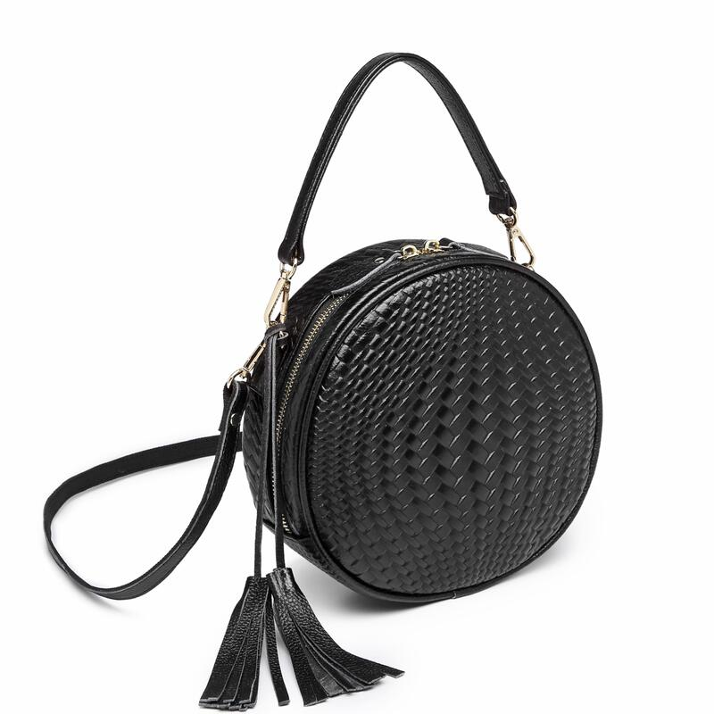 Women's shoulder bags genuine leather handbag Round women's bag Cowhide female tote crossbody bags for women bolsa feminina