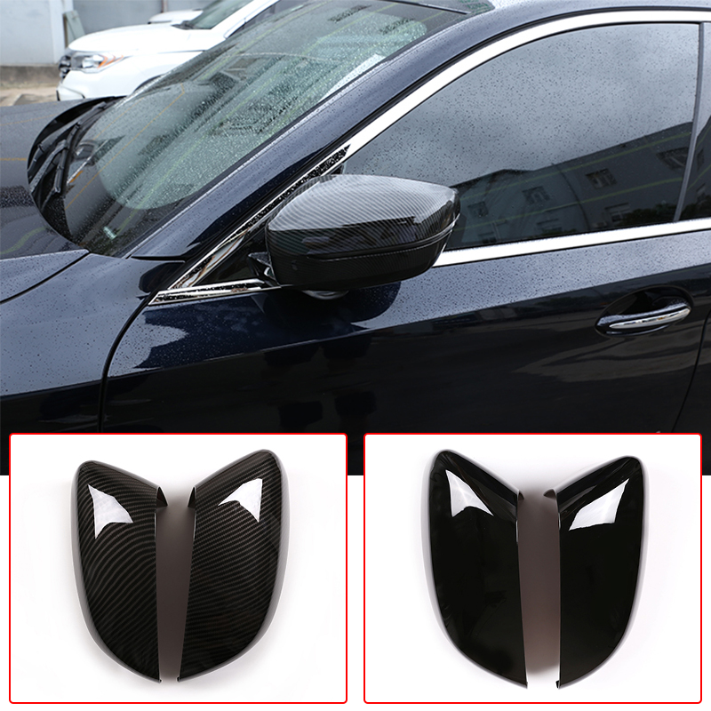 LHD Car Exterior Rear View Mirror Cap Cover Trim ABS Carbon For BMW 5/<font><b>7</b></font> Series G30 G11 G12 6 Series GT <font><b>3</b></font> Series G20 Accessories image