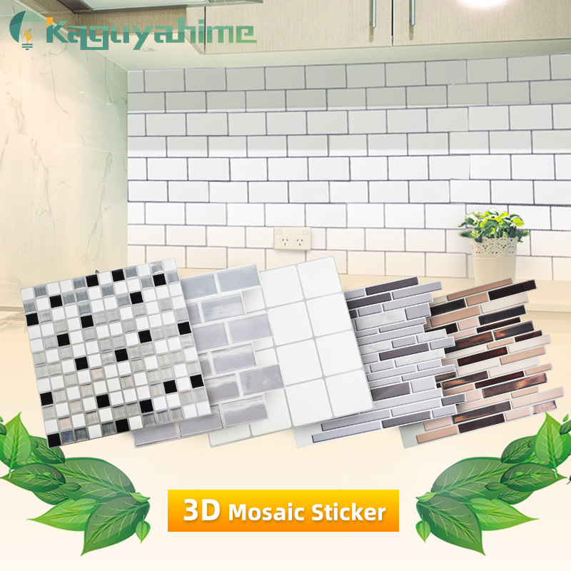 3D Kitchen Wallpaper Marble Mosaic Peel And Self-adhesive Wall Stickers Waterproof For Bathroom Home Wall Decal Sticker Vinyl