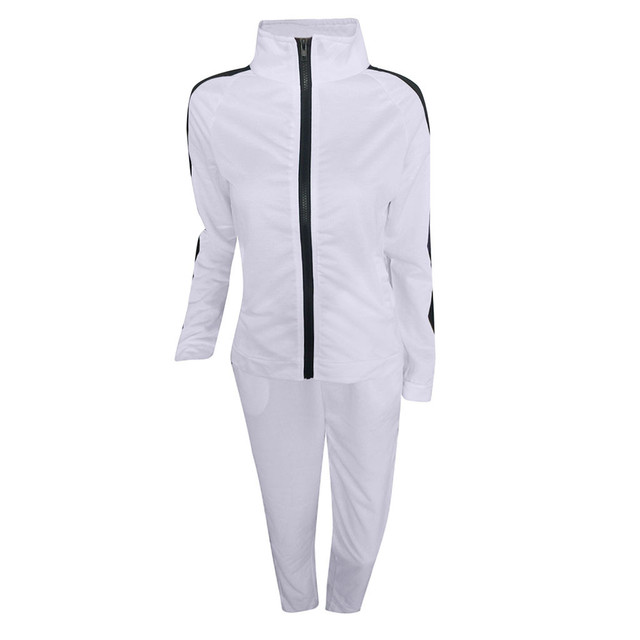Tracksuit For Women Two Piece Set Autumn 2019 Zipper Long Sleeve Patchwork Sports Streetwear Women's Tracksuits sports suits#g4
