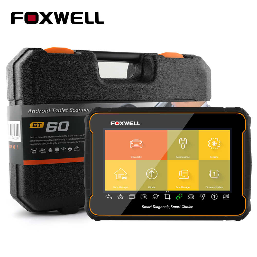 Foxwell GT60 Volledige Systeem OBD2 Scanner Automotive Code Lezer Abs Airbag Sas Epb Dpf Injector Codering Obd 2 Auto Diagnostische tool
