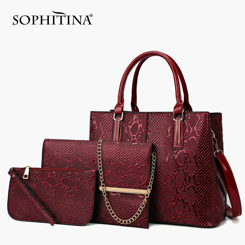 SOPHITINA New Fashion Lady Crossbody Bag Easy Coin Purse Large Capacity High Quality Solid Multifunctional Shoulder Bag E26