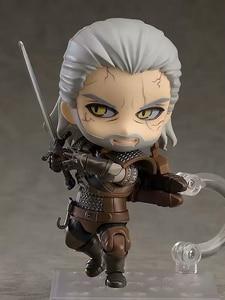 Image 5 - 10 Cm Q Witcher Ed 3 Wild Hunt 907 Geralt Sói Trắng Geralt Nhựa PVC Nhân Vật Đồ Chơi Mô Hình tặng Búp Bê