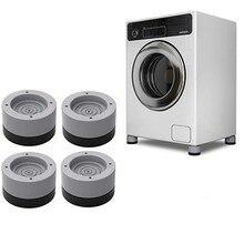 4 pces anti vibração pés almofadas máquina de lavar esteira de borracha anti-vibração almofada secador universal fixo antiderrapante almofada