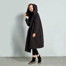 Womens Super Long Down Jacket Thick Black Red Hooded Keep Warm Slim Asymmetric Length100%  Plus Size Women Winter Coat Full