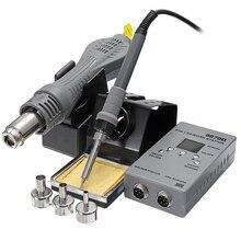 2in1 محطة لحام بغا محطة إعادة العمل مسدس هواء ساخن سبيكة لحام الرقمية محطة لحام الهواء