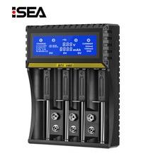 4 Slots Carregador de Bateria BTY 18650 Multi função de Li ion Li fe Ni CD Carregador para AA Ni MH /AAA/18650/26650/6F22/9V Carregador de Bateria