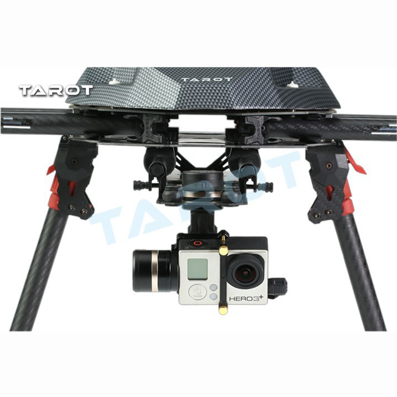 Tarot TL3T01 Update from T4 3D 3D Metal 3 axis Brushless Gimbal for FPV RC Drone Photography for GOPRO4 for Gopro3 for Gopro3+