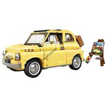 2021 yeni yapı taşları Fiat Nuova 500 Creator uzman şehir arabası modeli blokları uyumlu 10271 DIY oyuncaklar çocuklar için hediye