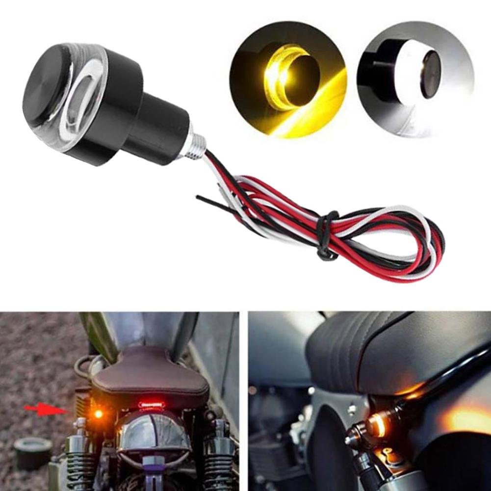 2019 Motorcycle Motorbike Handlebar End Turn Signal LED Light Indicator Blinker Lamp 22mm Handlebar E-bikes High Light Decoratio
