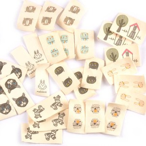 Mixed Animal Printed Cotton Woven Labels For DIY Sewing Accessories Garment Fabric Shoes Bags Clothing Tags 50pcs c2244