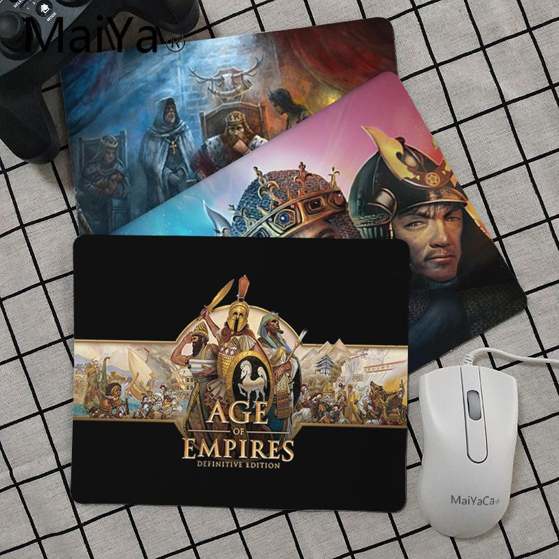 Maiya Top Quality Age Of Empires DIY Design Pattern Game Mousepad Top Selling Wholesale Gaming Pad Mouse