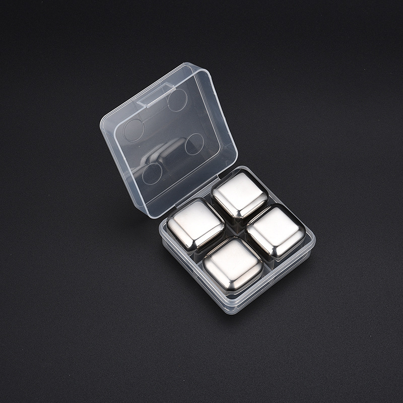 27mm304 Stainless Steel Square Ice, Ice Grain, Whisky, Ice Tartar, Quick-Frozen Creative Gift Kit