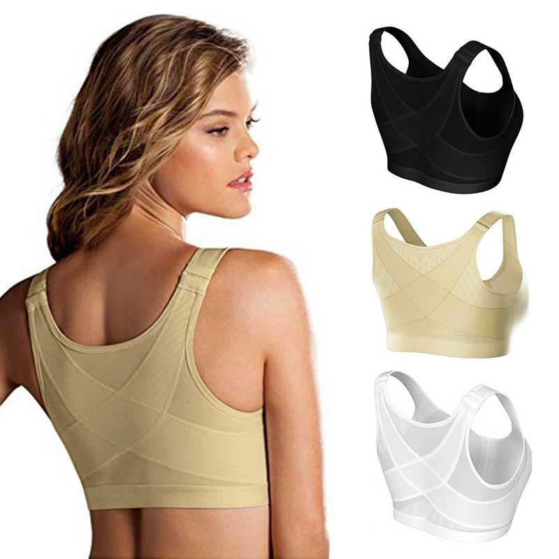 Posture Corrector Lift Up Breathable Underwear Women 2019 New Cross Back Bra Shockproof Sports Support Fitness Vest Bras