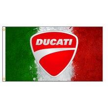 90x150cm ducati motocicleta bandeira para decoração