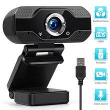 Webcam completo de hd 1080p 4k usb câmera web pc com microfone embutido para o trabalho de computador em linha classe transmissão web cam