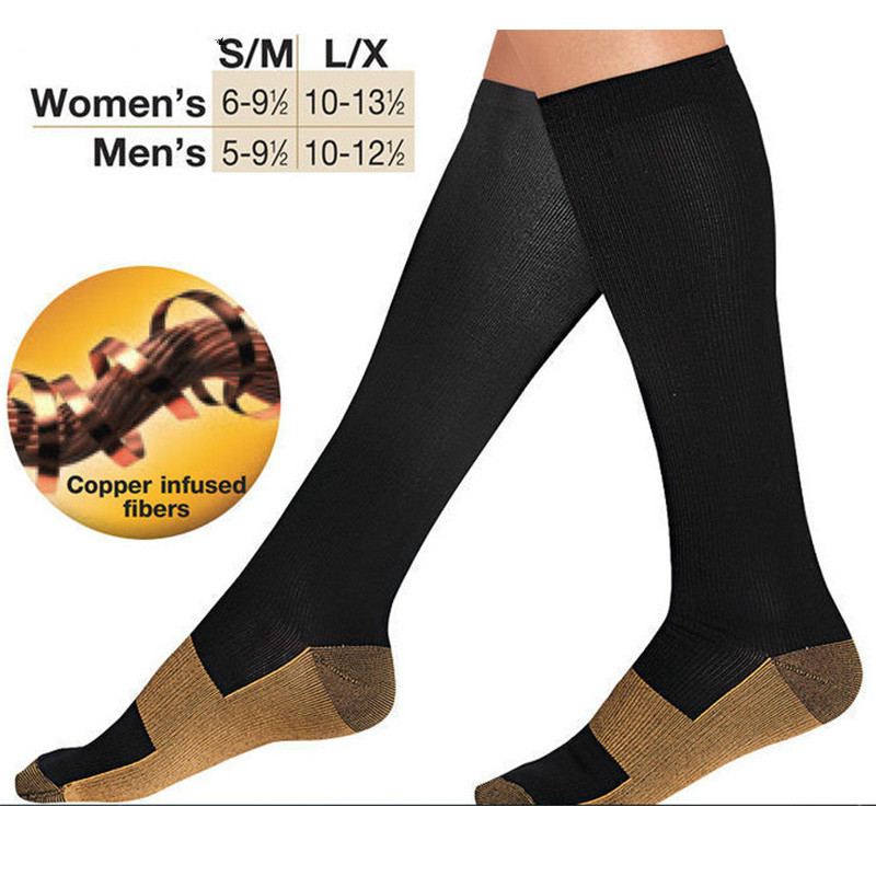 Anti Fatigue Compression Socks Great for travel Varicose veins Women and Men's Miracle copper socks Leg Massager-in Massage & Relaxation from Beauty & Health