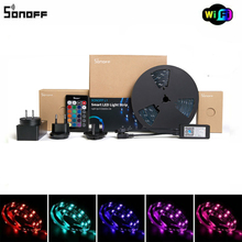 Sonoff L1 Smart LED Light Strip compatible with Alexa Google home eWeLink control Dimmable Flexible RGB Strip Lights