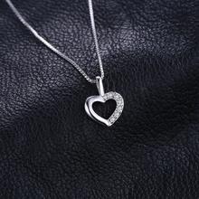 Sterling Silver Heart Choker Statement Pendant Jewelry