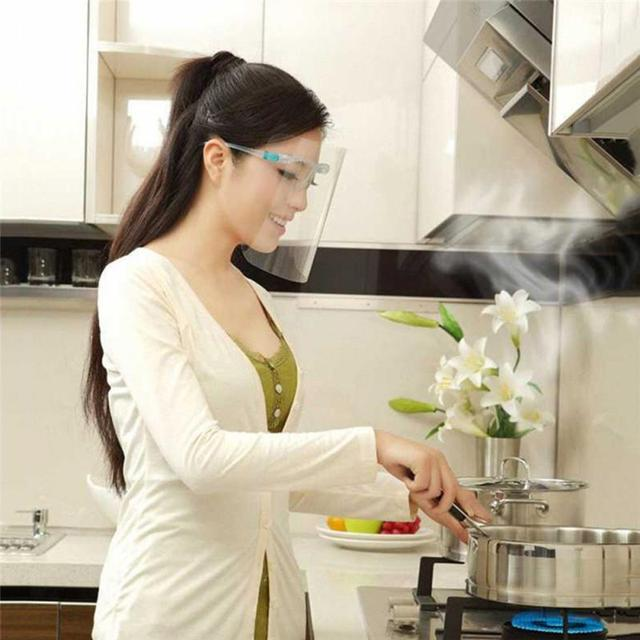 transparent mask Safety Kitchen Cooking Anti-Oil Splash Clear Face Cover Mask Protector Kitchen Accessories Random Color 4