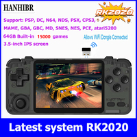 Hanhibr RK2020 Retro Console 3.5inch IPS screen portable handheld game console PS1 N64 games video game player MAME 3D games