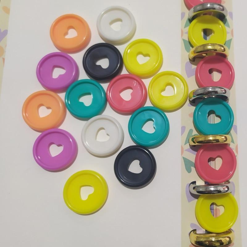 12PCS 23MM Notebook Binding Buckle Mushroom Disc Notebook Binding Notepad Plastic Loose-leaf Plastic Disc Buckle Paper Clip Ring