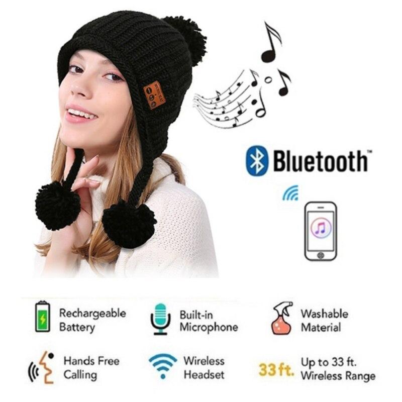 Bluetooth Headphone Winter Hat Warm Music Cap Wireless Earphone Speaker With Mic Sport Hat Headset Smart Cap Headset