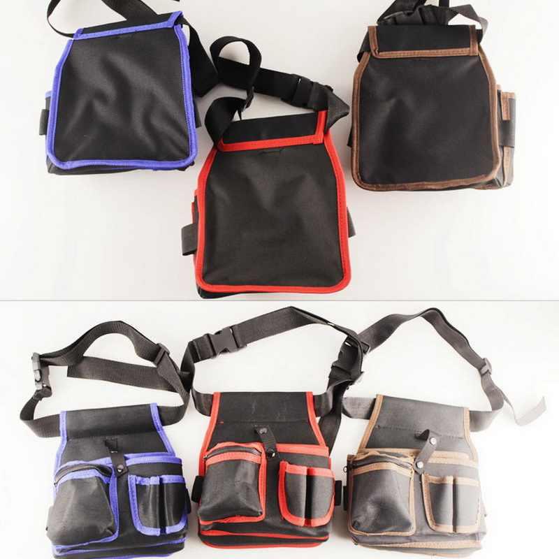 Bolsa de herramientas de lona mecánica de gran calidad, bolsa de bolsillo con cinturón