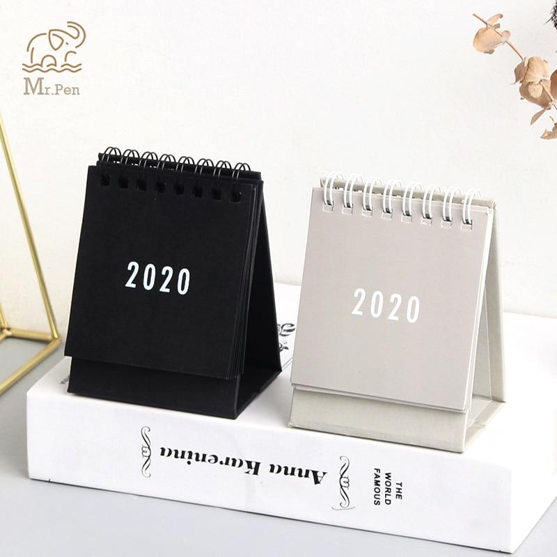 2020 Kawaii Desk Calendar Creative Office Desktop Decoration Small Daily Schedule Calendar Portable Notepad Coil Calendar