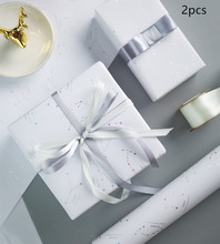 2pcs Constellation Gift Wrapping Paper Hot Silver Ins Flowers Wrapped Box Diy Soft Coated