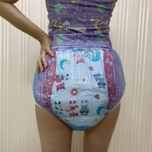 abdl adult baby diapers pvc reusable diaper Babies diapers panties onesize ddlg bebe blue Baby washable diaper XL