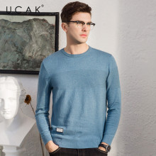 UCAK Brand Sweater Men Fashion O-Neck Pull Homme Knitwear Pullover Men Autumn Winter Cotton Sweaters Jersey Hombre Clothes U1014