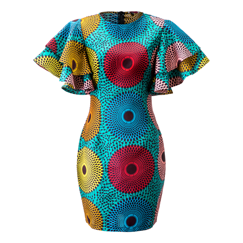 African Dresses For Women Dashiki Dress Vetement Femme 2019 Ankara Dresses Ropa Mujer Slim African Dresses For Women