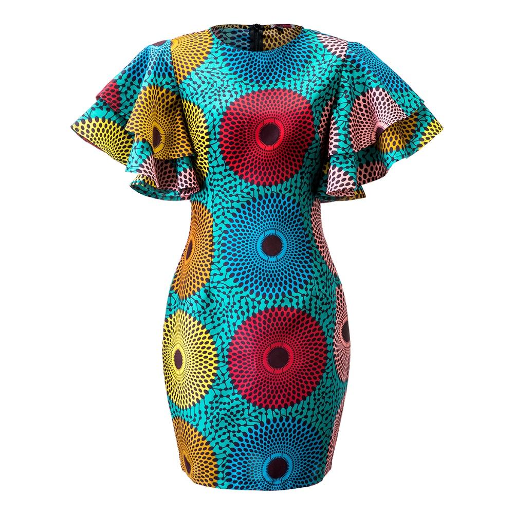 African Dresses For Women Dashiki Dress Vetement Femme 2019 Ankara Dresses Ropa Mujer Slim African Dresses For Women
