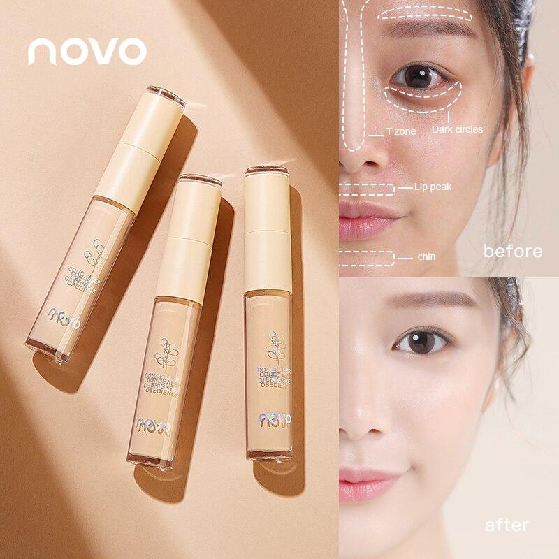 Novo duplo-cabeça corretivo cobertura facial manchas acne marcas círculos escuros sardas natural rosto maquiagem profissional cosméticos tslm1