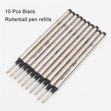 Haute qualité rouleau à bille stylo à bille recharge bleu et noir encre 0.7mm stylo plume cartouche d'encre
