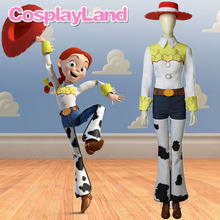 цена на Toy Story Jessie Cosplay Costume Halloween Party Cosplay Costumes Cowgirl Suit Jessie Women Outfit with Boots Hat Custom Made