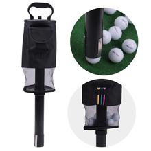 Golf Ball Pick Up Shag Bag Holder with Plastic Tube Retrieve