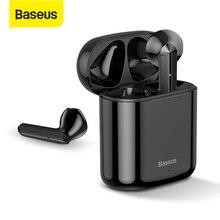 سماعة بلوتوث من Baseus TWS سماعة أذن ذكية W09 تعمل باللمس مع خاصية التحكم باللمس وخاصية الستيريو وصوت جهير سماعة عالية الدقة